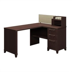 Bush Business Furniture Enterprise 60 X 47 Corner Desk Mocha Cherry