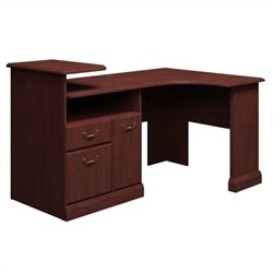 Bush Business Furniture Syndicate Expandable Desk in Harvest Cherry