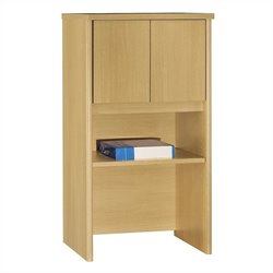 Bush Business Series C 24W Hutch in Light Oak