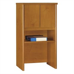 Bush Business Series C 24W Hutch in Natural Cherry