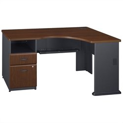 Bush Business Furniture Series A Hansen Cherry Expandable Corner Desk