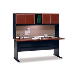 BBF Series A 72 Wood Credenza Desk with Hutch in Hansen Cherry