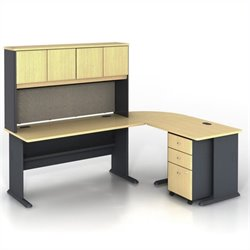 BBF Series A 5-Piece L-Shape Computer Desk in Beech