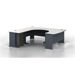 Bush BBF Series A U-Shape Left-Hand Corner Computer Desk in Slate