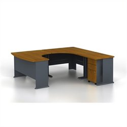 Bush Business Series A 4-Piece U-Shape Right-Hand Corner Desk