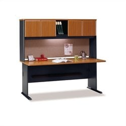 BBF Series A 72 Computer Desk with Hutch in Natural Cherry