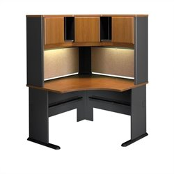 Bush Business A-Series Corner Office Desk with Hutch