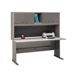 BBF Series A 72 Computer Desk with Hutch in Pewter