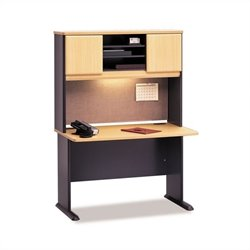 BBF Series A 48 Computer Desk with Hutch in Beech
