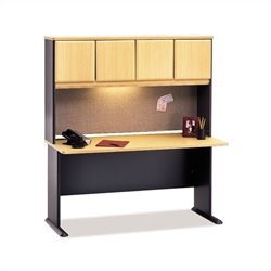 BBF Series A 60 Computer Desk with Hutch in Beech