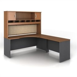 Bush BBF Series C 3-Piece Right-Hand L-Shaped Computer Desk in Auburn Maple