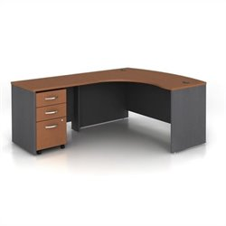 Bush Business Series C 3-Piece Left-Hand Computer Bow Desk