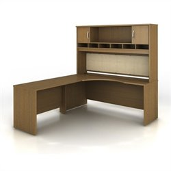 Bush BBF Series C 3-Piece Left-Hand Corner Computer Desk in Warm Oak