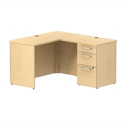BBF 300 Series 48W x 22D Shell Desk in L-Station with 3Dwr Pedestal