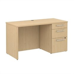 Bush BBF 300 Series 48W x 22D Single Pedestal Credenza Kit in Natural Maple