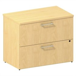 Bush BBF 300 Series 2-Drawer Lateral File in Natural Maple