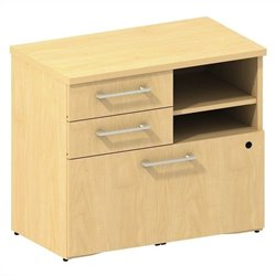 Bush BBF 300 Series Lower Piler and File Cabinet in Natural Maple