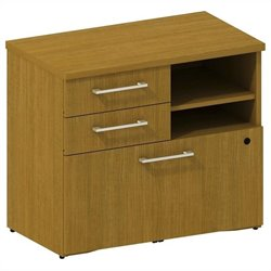 Bush BBF 300 Series Lower Piler and File Cabinet in Modern Cherry