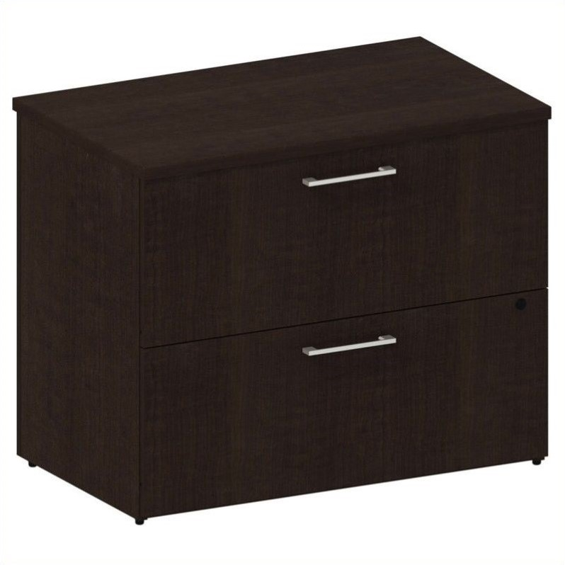 Bush BBF 300 Series 2-Drawer Lateral File in Mocha Cherry