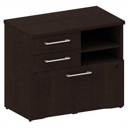 Bush BBF 300 Series Lower Piler and File Cabinet in Mocha Cherry
