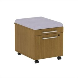 Bush BBF 300 Series Mobile Pedestal in Modern Cherry and Morning Dew