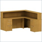 BBF 300 Series 72 Reception Desk L-Station with 2Dwr and 3 Dwr Peds