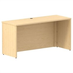 Bush BBF 300 Series 60W x 22D Shell Desk Credenza Kit in Natural Maple