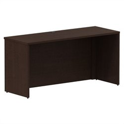 Bush BBF 300 Series 60W x 22D Shell Desk Credenza Kit in Mocha Cherry