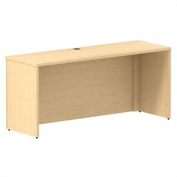 Bush BBF 300 Series 66W x 22D Shell Desk Credenza Kit in Natural Maple