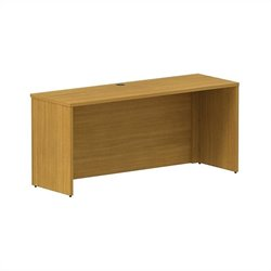 Bush BBF 300 Series 66W x 22D Shell Desk Credenza Kit in Modern Cherry