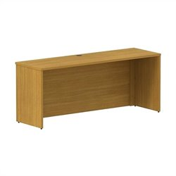 Bush BBF 300 Series 72W x 22D Shell Desk Credenza Kit in Modern Cherry