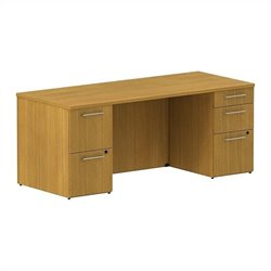 Bush BBF 300 Series 72W x 30D Double Pedestal Desk Kit in Modern Cherry