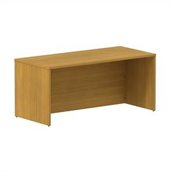 Bush BBF 300 Series 66W x 30D Shell Desk Kit in Modern Cherry