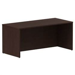 Bush BBF 300 Series 66W x 30D Shell Desk Kit in Mocha Cherry