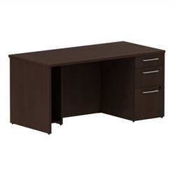Bush BBF 300 Series 60W x 30D Single Pedestal Desk Kit in Mocha Cherry