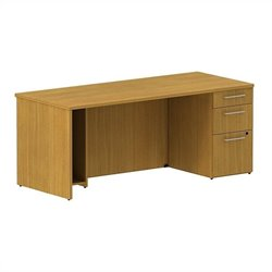 Bush BBF 300 Series 72W x 30D Single Pedestal Desk Kit in Modern Cherry