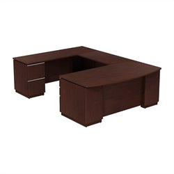 Bush Business Furniture Milano2 72x36 LH U-Station Harvest Cherry