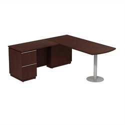 Bush BBF Milano2 72W X 30D LH Peninsula L-Desk in Harvest Cherry