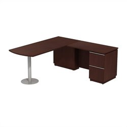 Bush BBF Milano2 72W X 30D RH Peninsula L-Desk in Harvest Cherry
