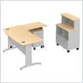 BBF Sector 60 Curved Pedestal L-Desk with Piler-Filer and Storage