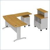 BBF Sector 72 Curved L-Desk with Mobile Piler-Filer and 2Dwr Pedestal
