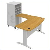 BBF Sector 60W X 30D Curved L-Desk with LH Storage Locker