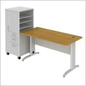BBF Sector 60W X 30D Rectantular Desk with LH Storage Locker