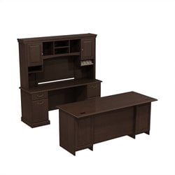 Bush Business Furniture Syndicate Office Set in Mocha Cherry