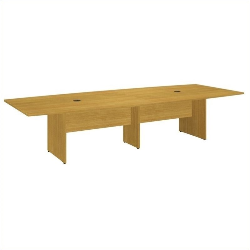 Bush BBF 120L x 48W Conference Table Kit - Wood Base in Modern Cherry