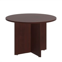 Bush BBF 42W Round Conference Table - Wood Base in Harvest Cherry