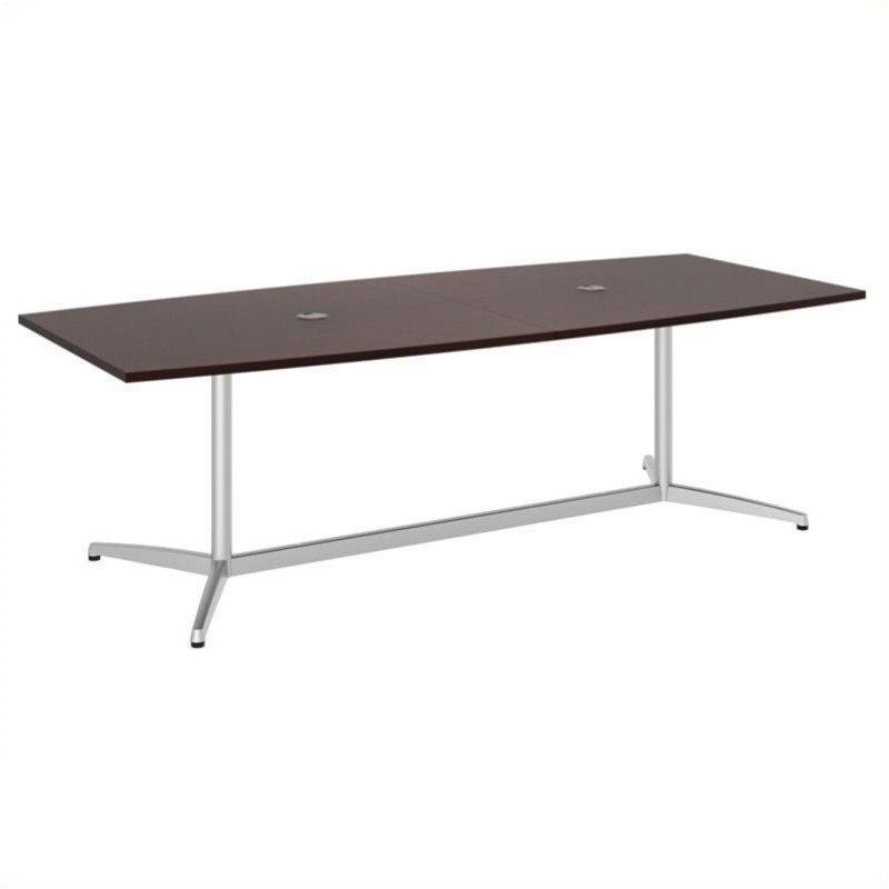 Bush BBF 96L x 42W Conference Table Kit - Metal Base in Harvest Cherry