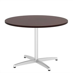 Bush BBF 42W Round Conference Table Kit - Metal X Base in Harvest Cherry
