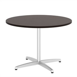 Bush BBF 42W Round Conference Table Kit - Metal X Base in Mocha Cherry