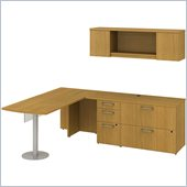 BBF 300 Series 72 L-Shape Peninsula Desk Set in Modern Cherry